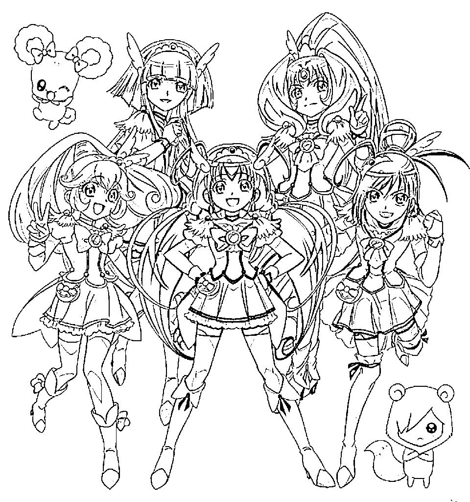 Glitter force characters coloring pages ~ Glitter force | Coloring Pages (mostly custom) | Pinterest ...