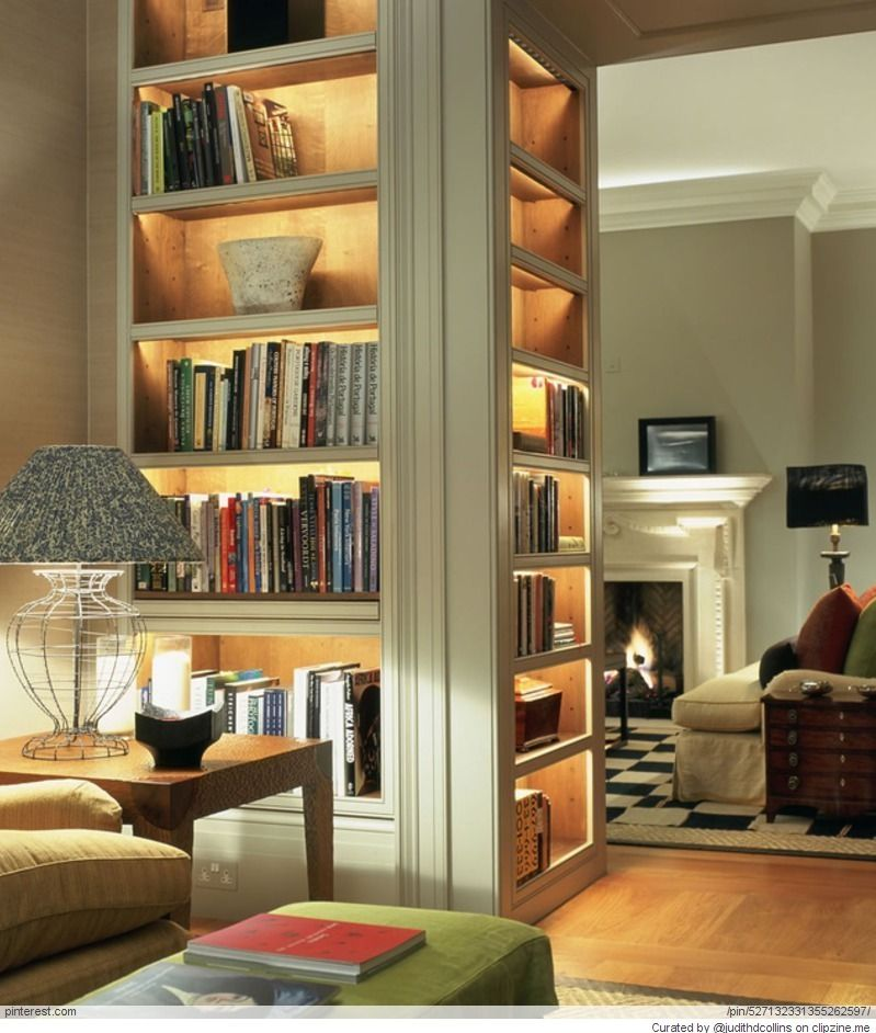 great bookshelf with lighting a great way to transition from one rh pinterest com