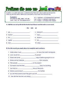 Free 5 Prefix Suffix And Roots Worksheets With Answer Keys Suffixes Worksheets Prefixes And Suffixes Prefix Worksheet Prefixes im and in worksheets