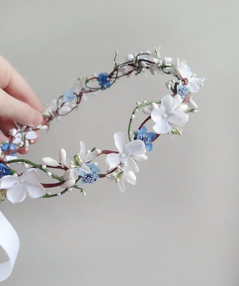 Communion flower crown veil first communion crown with