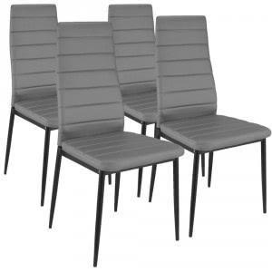 a89ca3eda64e1 Pack de 4 sillas de Comedor Stratus gris