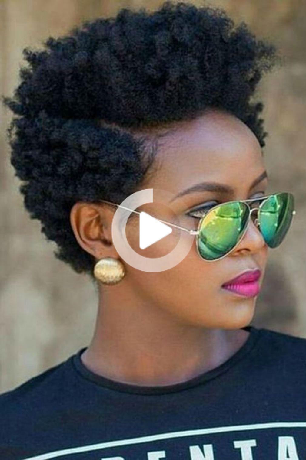 Coupe Courte Afro Coupe Courte Afro Coiffure Nappy Cheveux Court Pousse Des Cheveux