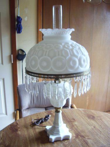 Wright Glass Moon And Stars Milk Glass 1000 Lamp 14 Shade W Milk Glass Lamp Stained Glass Repair
