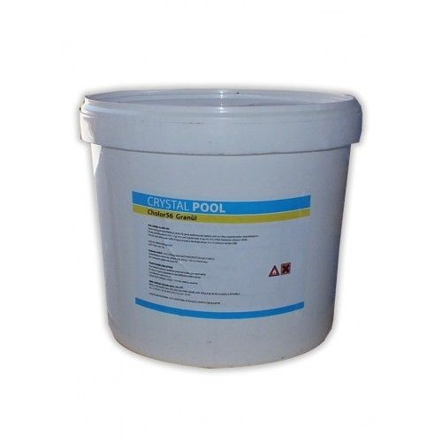 % 56 Klor içeren, çabuk eriyen, stabilizatörlü granül klordur. Havuz suyu dezenfeksiyonu için kullanılır. Hergün 100 m3 havuz suyu için 250 - 400 gr kullanınız.