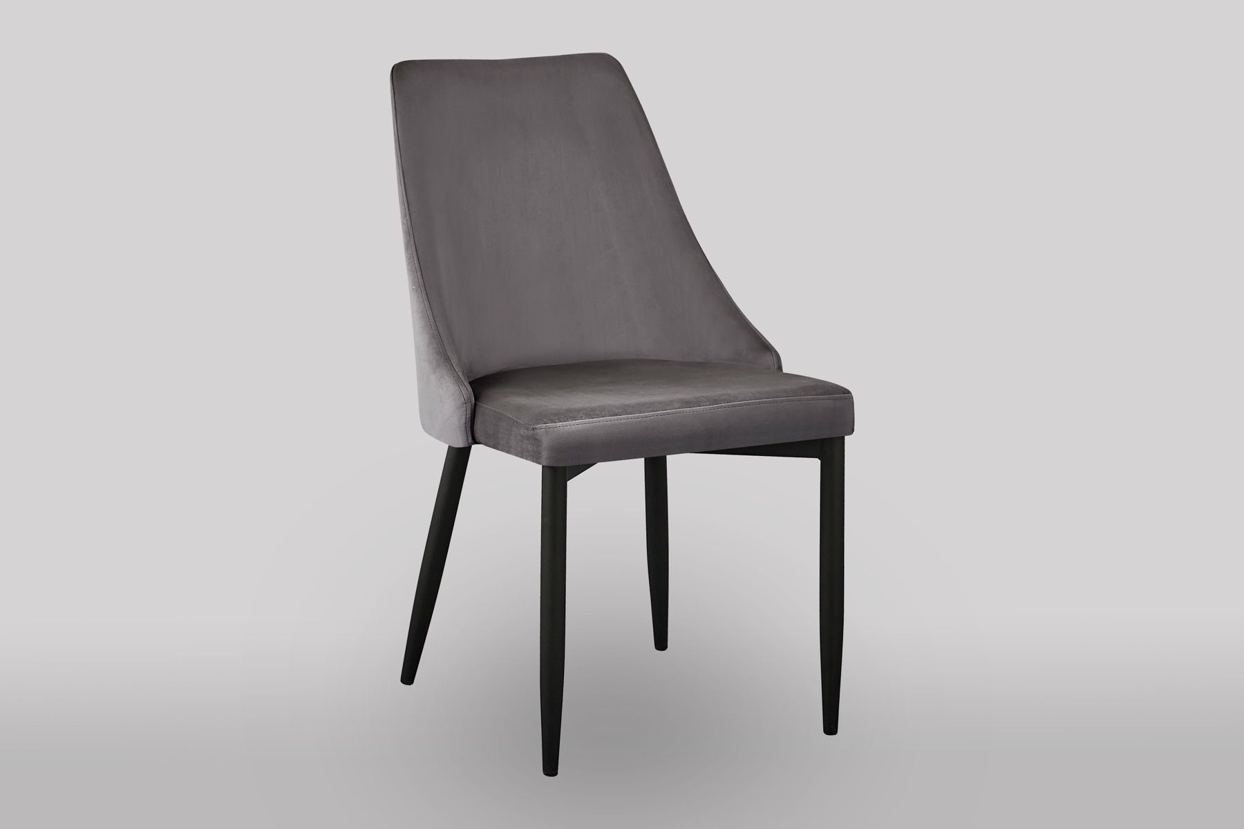Claire graphite grey luxury velvet dining chair dining