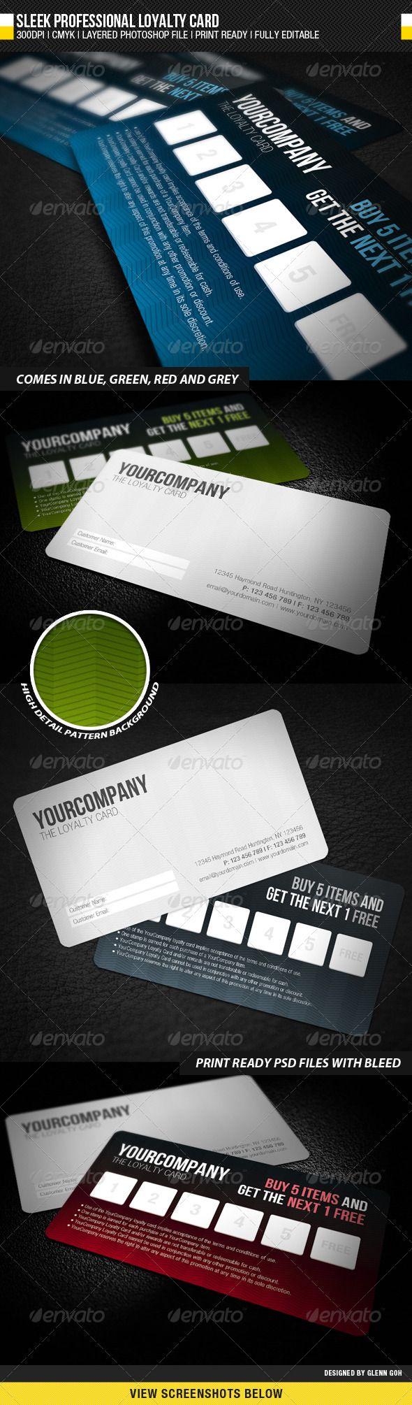 sleek professional loyalty card  loyalty card business