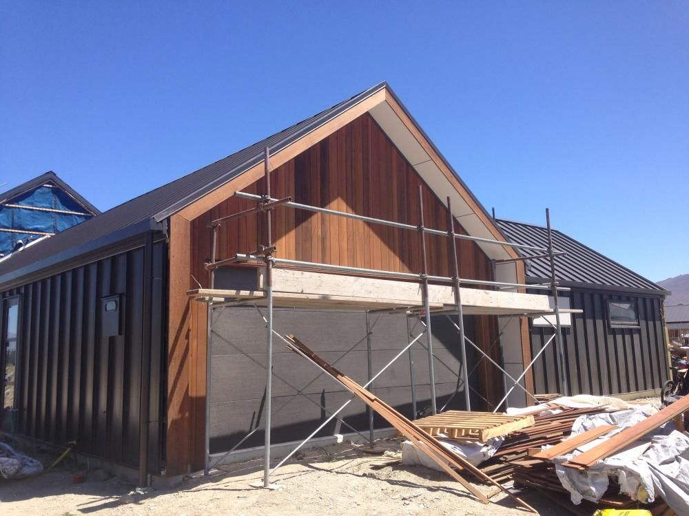cedar cladding building nz build me wing wall gables