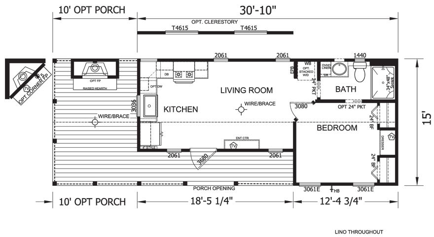Butterfield Park Model RV Floor Plan
