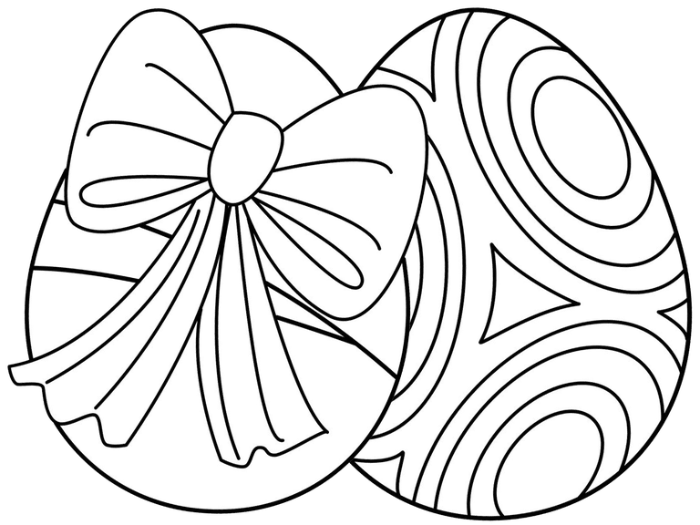 271 Free and Printable Easter Egg Coloring Pages | Easter, Egg and ...