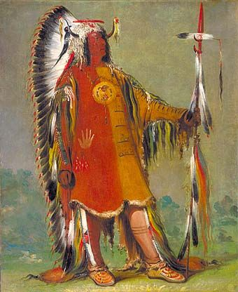 sioux chief by George Catlin