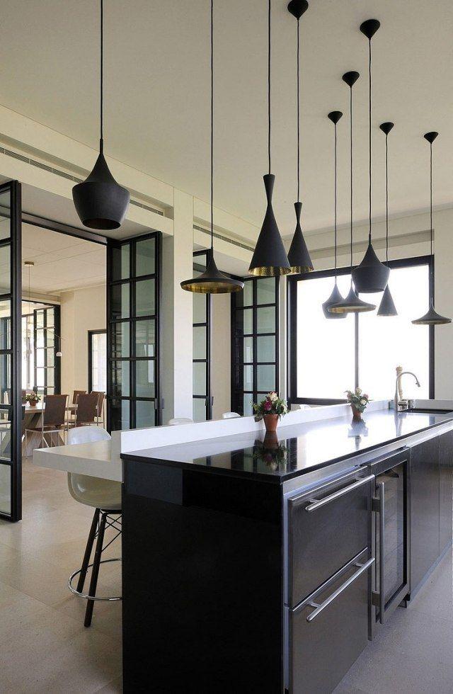 Pendelleuchte Küche | Kueche Esstheke Beleuchtung Schwarze Pendelleuchten Tom Dixon