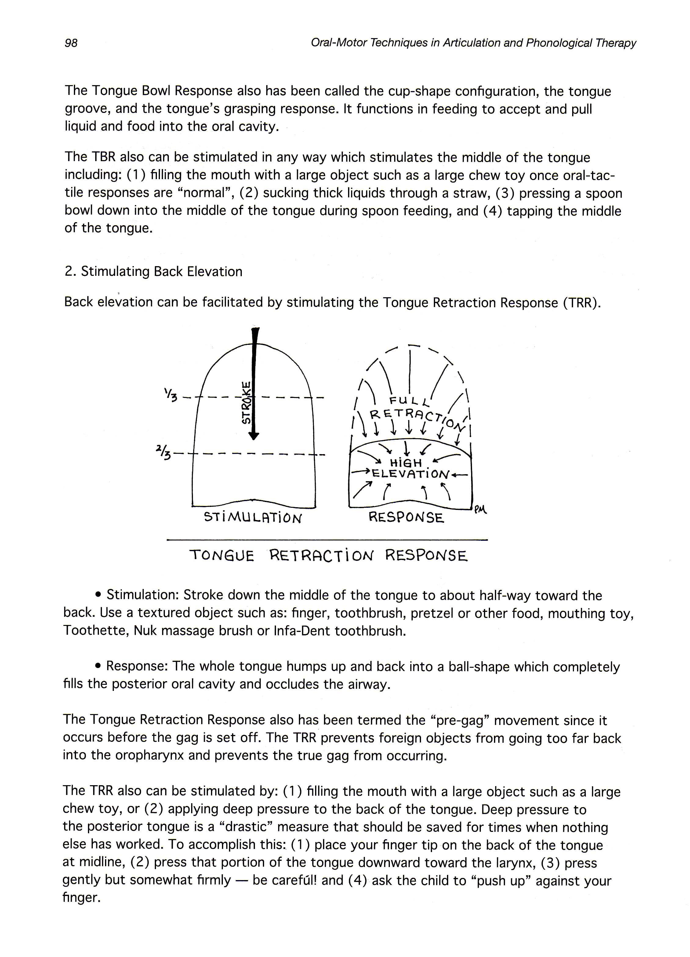Tongue Bowl Response - Stimulating Tongue Back Elevation for speech ...