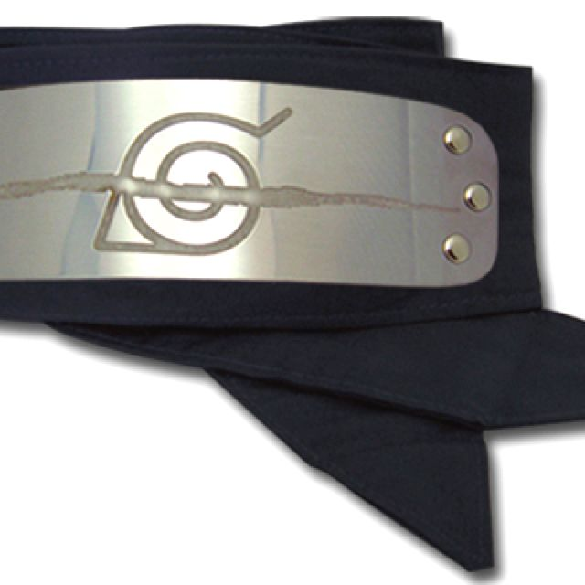 Crossed Out Leaf Head Band With Images Naruto Headband