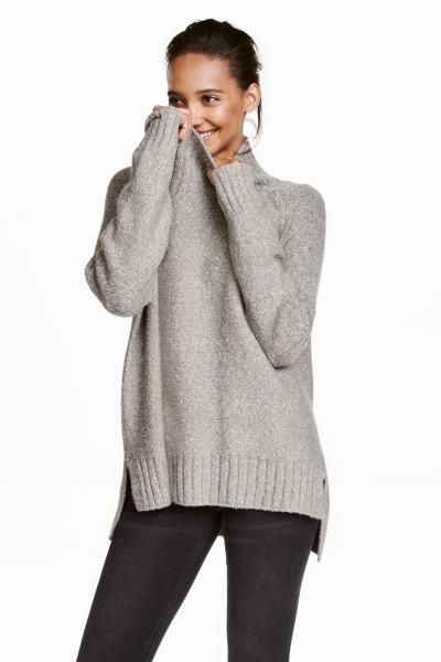 Knitted polo-neck jumper | H&M