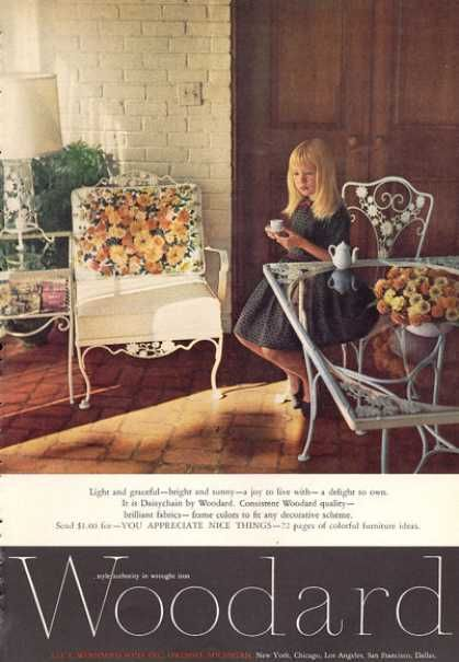 woodard wrought iron furniture 1963 ads from the 60s