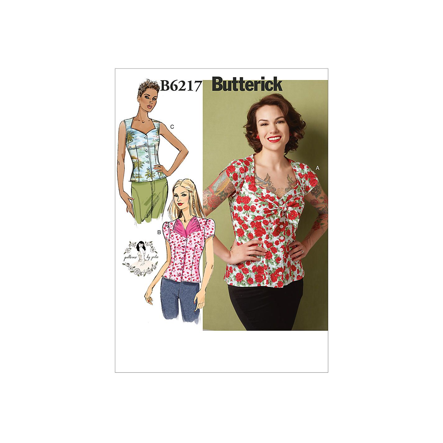 Butterick 6217 Misses Blouse Pattern by Gertie ( Gretschen Hirsch ...