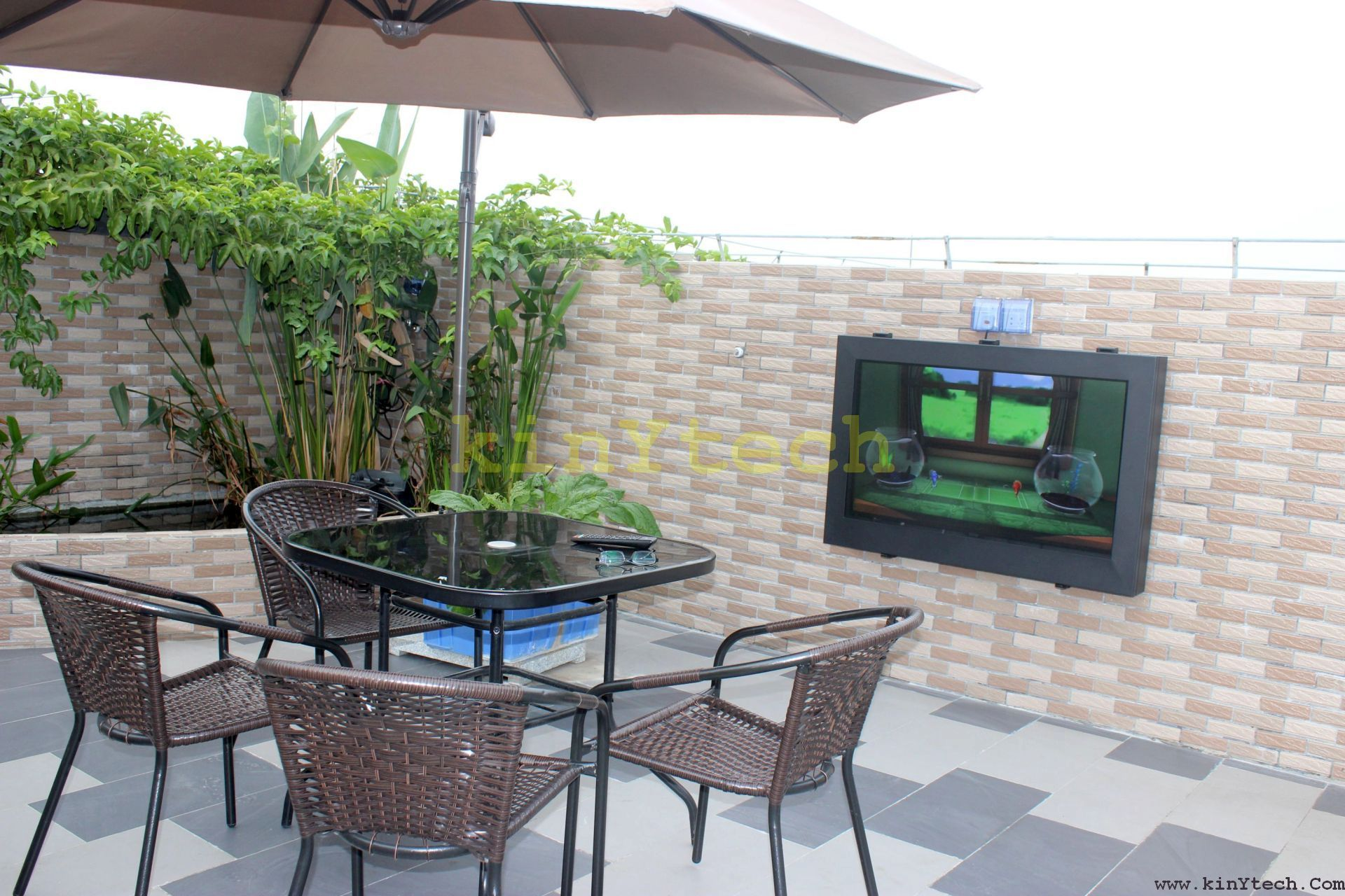 outside TV cabinet Enclosure From Kinytech China outdoor TV cabinet