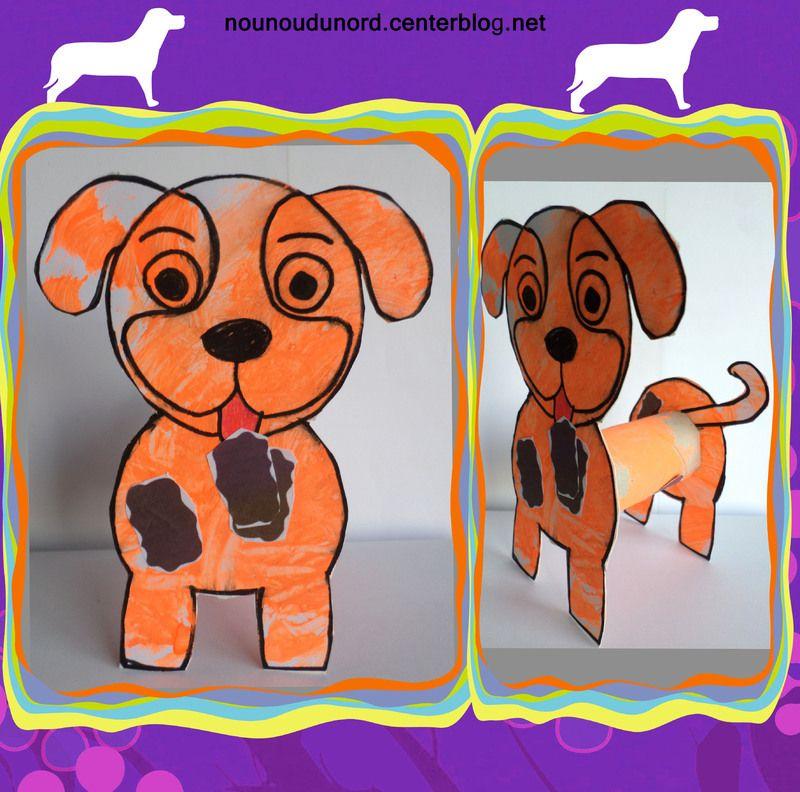 chien rouleau papier bricolage pinterest coloriage animaux rouleaux et papier wc. Black Bedroom Furniture Sets. Home Design Ideas
