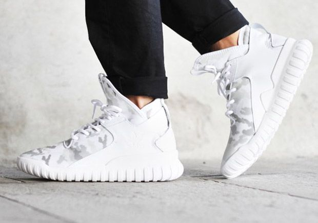 competitive price ba219 453da White Camo Hits The adidas Tubular X - SneakerNews.com