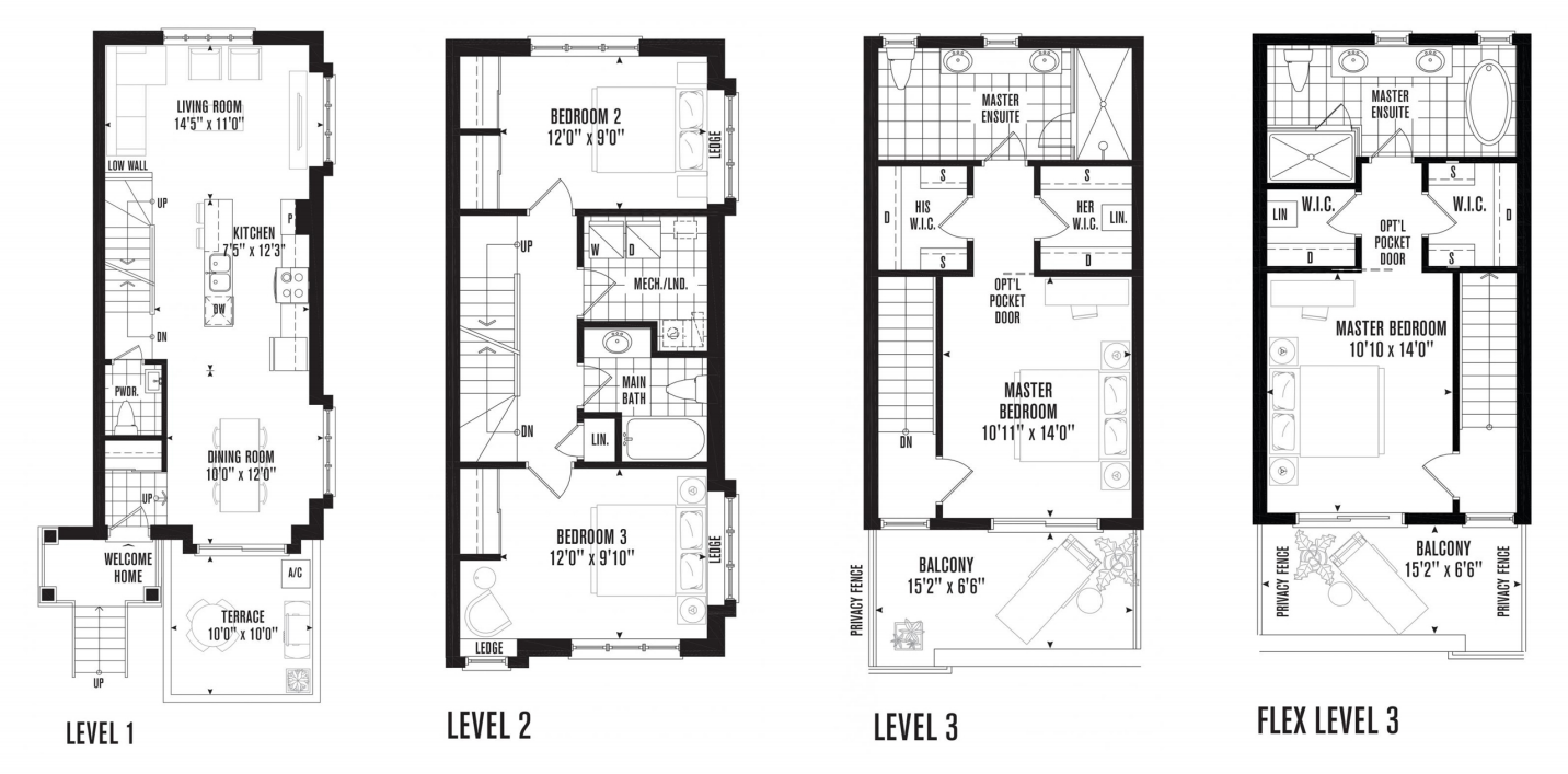 Urban Townhouse Floor Plans: Image Result For Minto Stacked Townhouse Floorplans
