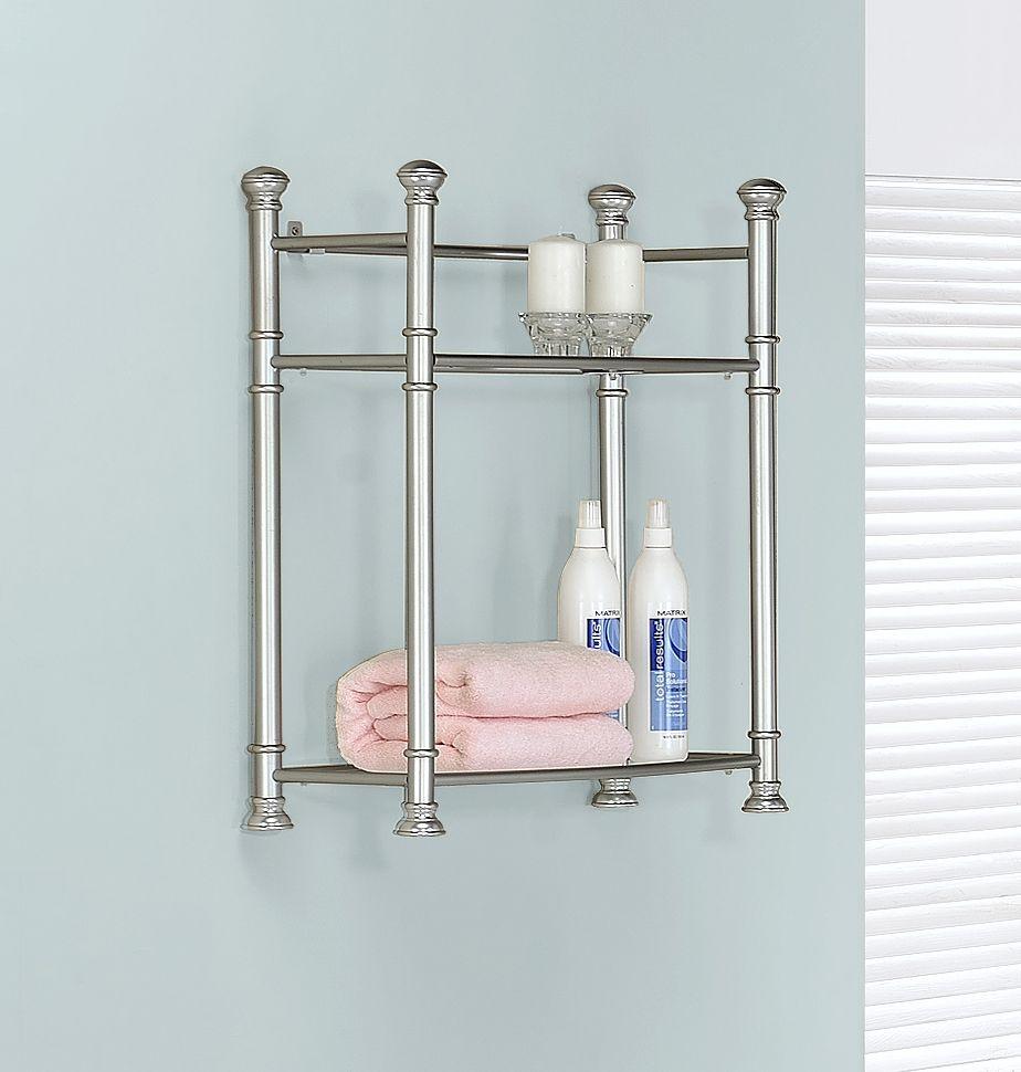 Monarch Specialties Bathroom Accent - 26H / Nickel Metal With ...