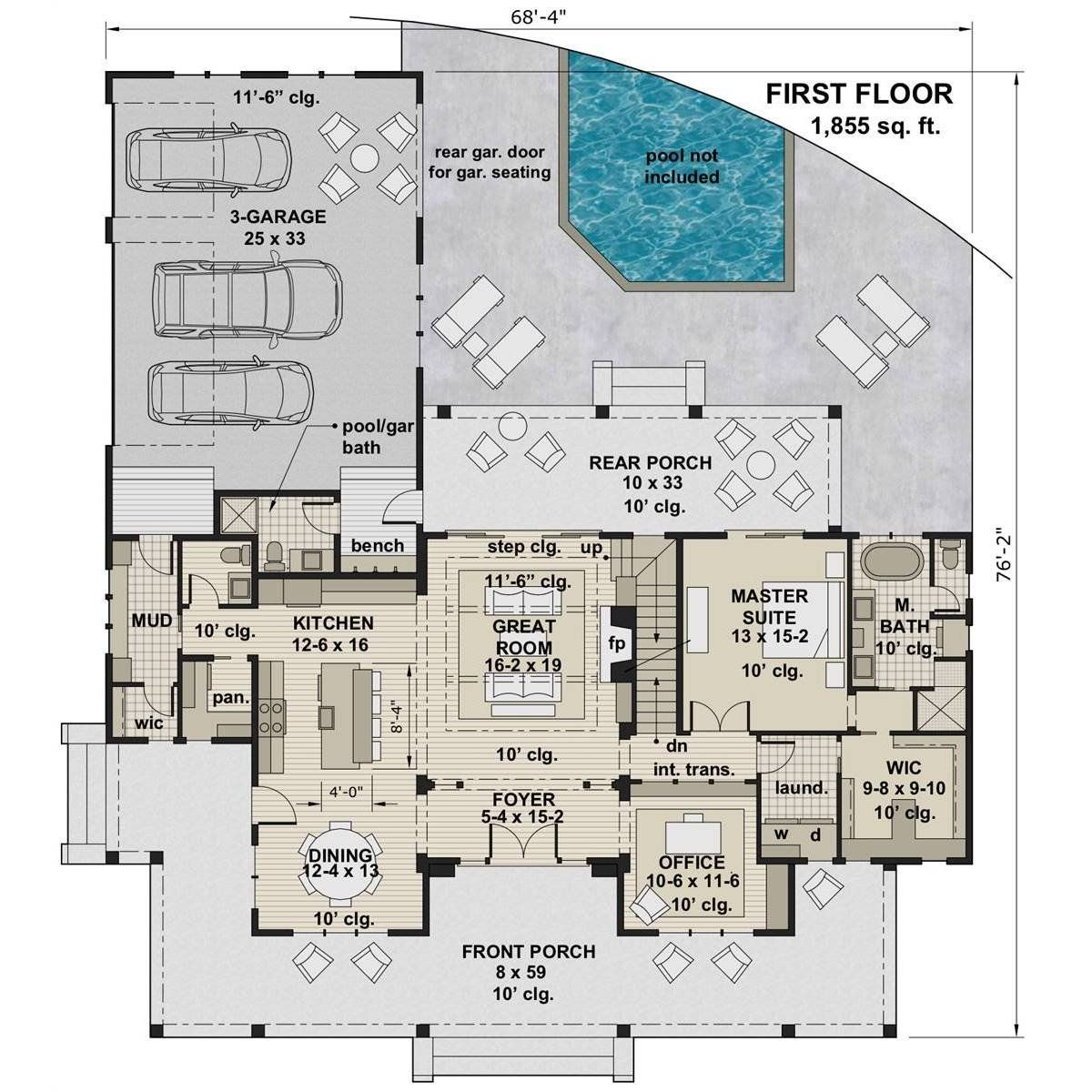 The House Designers Thd 7375 Builder Ready Blueprints To Build A Two Story Farmhouse Plan With Basement Foundation 5 Printed Sets Walmart Com Farmhouse Plans Modern Farmhouse Plans House Blueprints