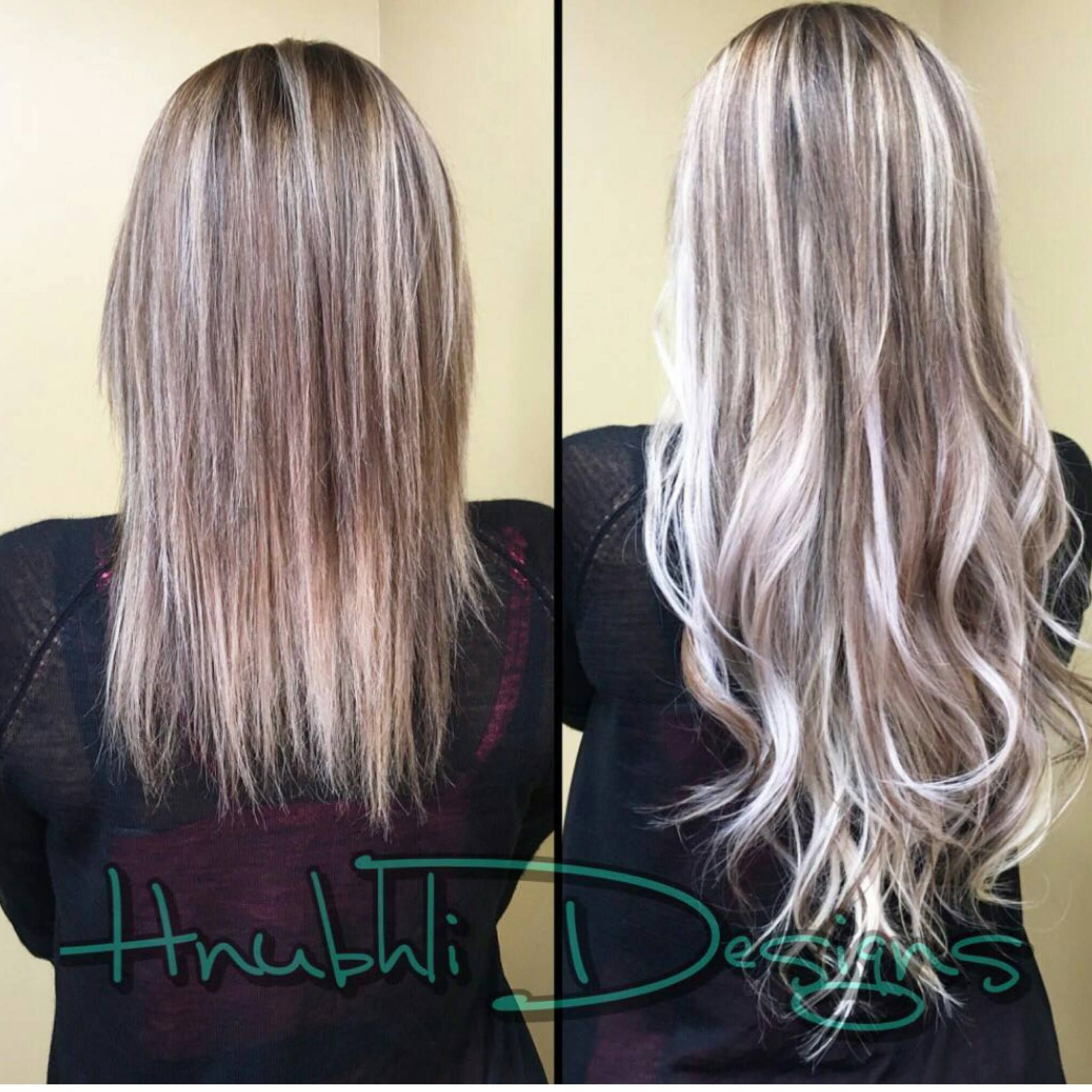 She Is Touched Up Aqua Tape In Hair Extensions Looks Beautiful As