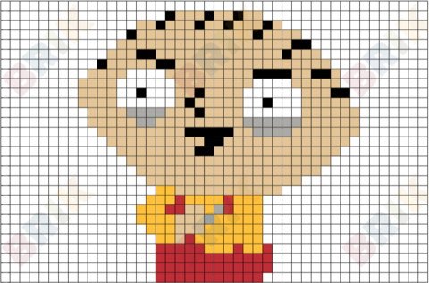 Stewie Griffin Pixel Art Brik Pixel Art Designs Pinterest