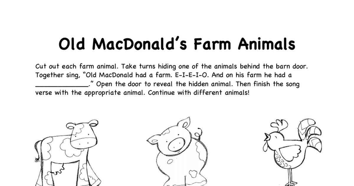 Farm Animals B W Pdf English Pinterest Farm Animals Preschool