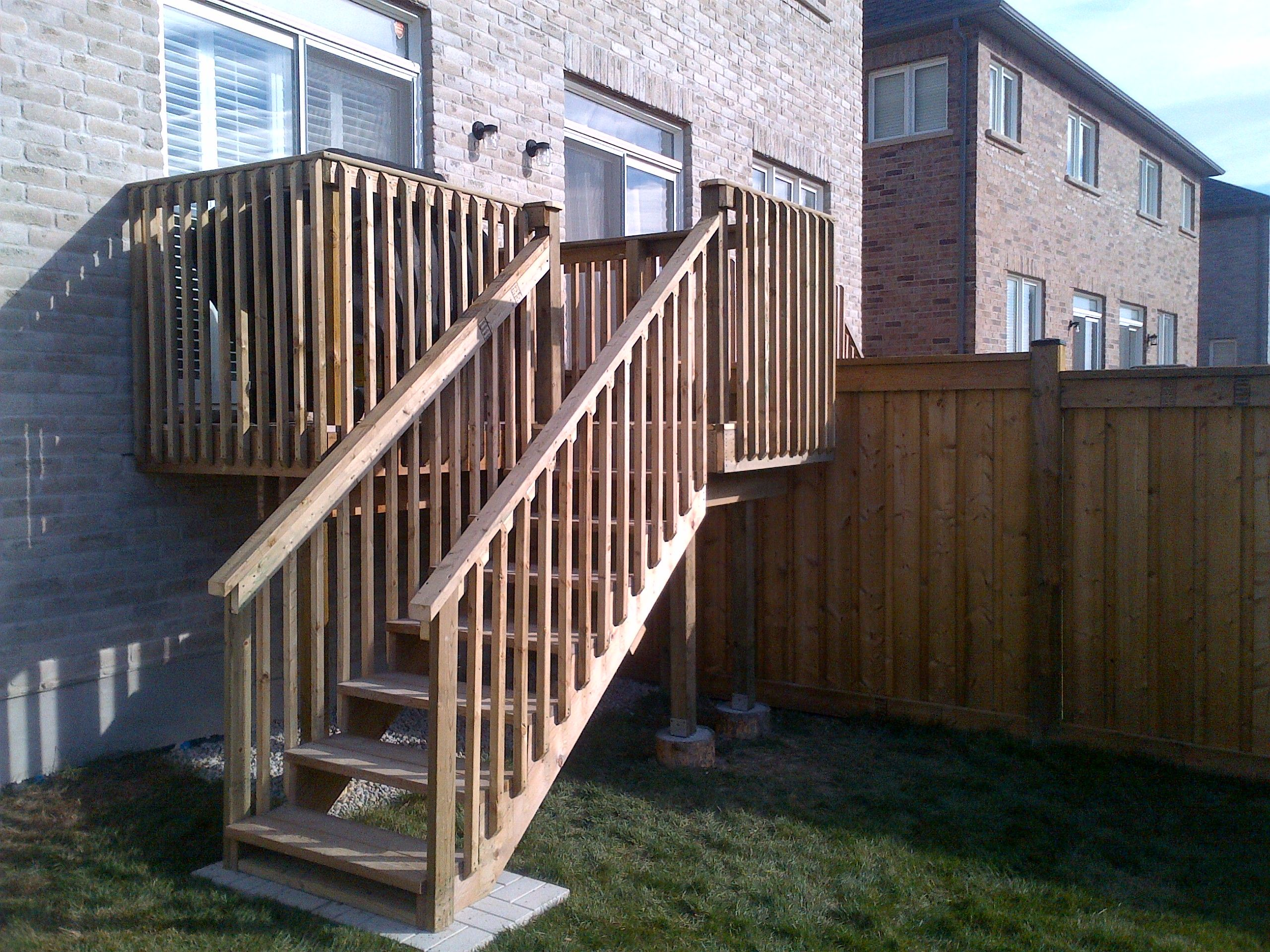 Pressure Treated Deck And Fence Outdoor Stair Railing Stair