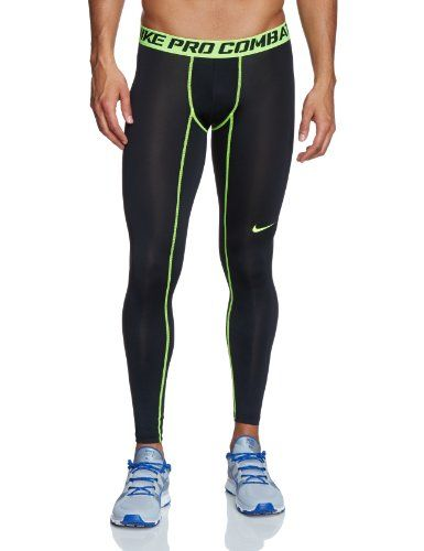 f8b661749a Mens Nike Pro Combat Core Compression Tights 2.0 Game Black/Volt 449822-017  Size Medium