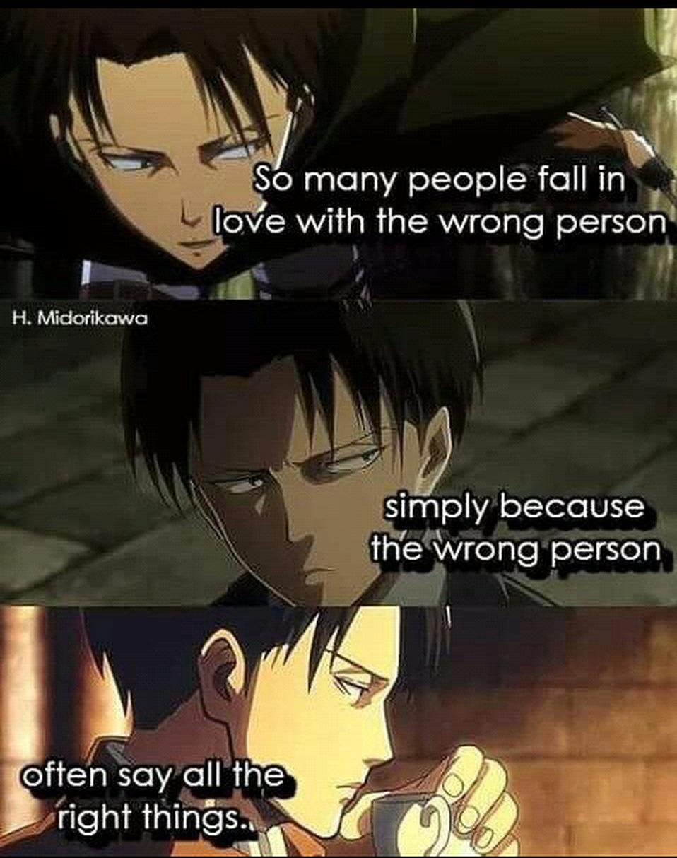 #Anime #manga #quote | Attack on titan, Levi quotes ...