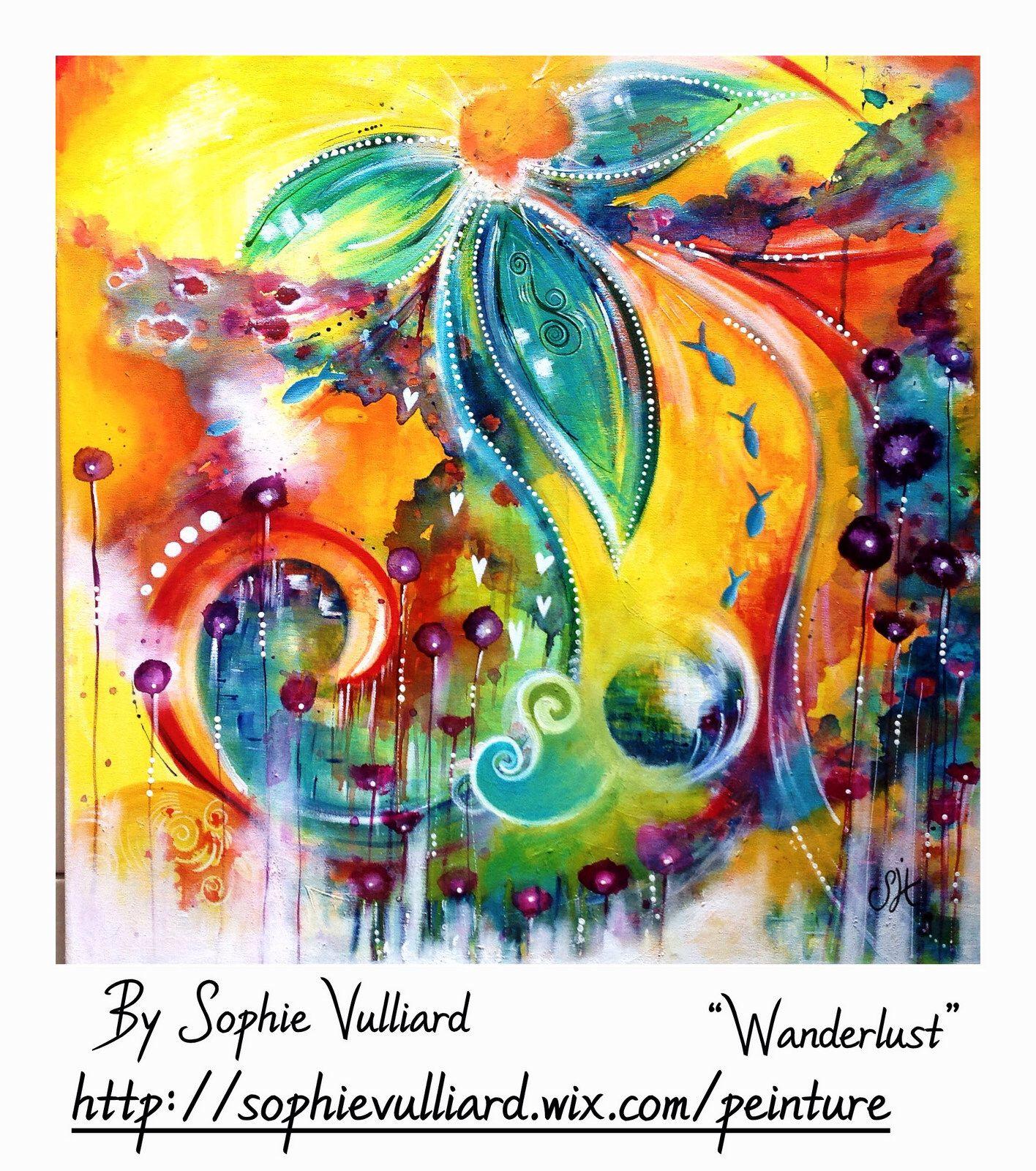 By Sophie Vulliard Peinture Intuitive A L Acrylique Sur Toile La