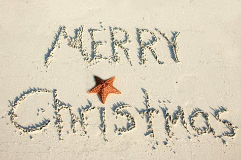 christmas in the sand - Merry Christmas Beach Images