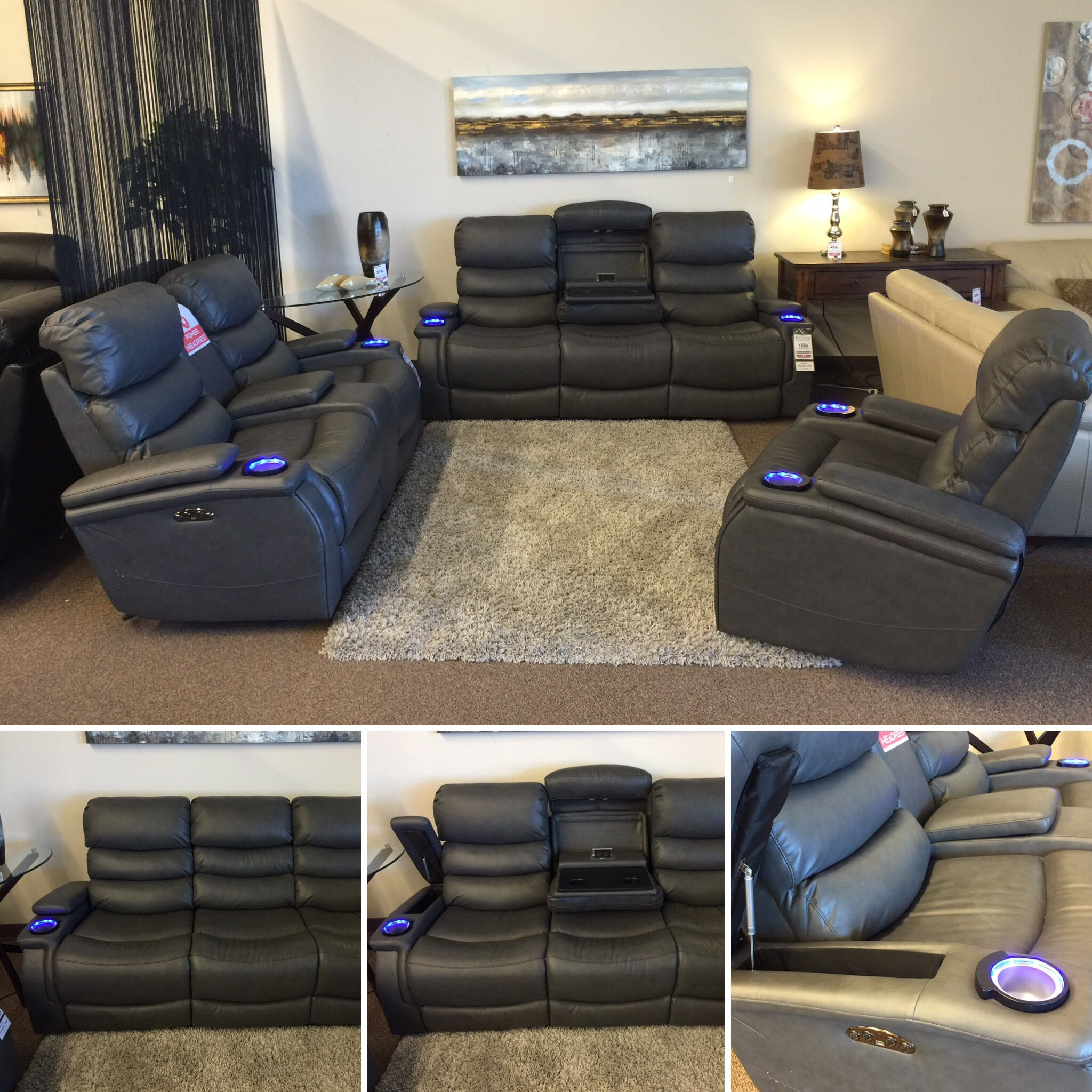 This sofa is so awesome Power recline power adjustable headrests