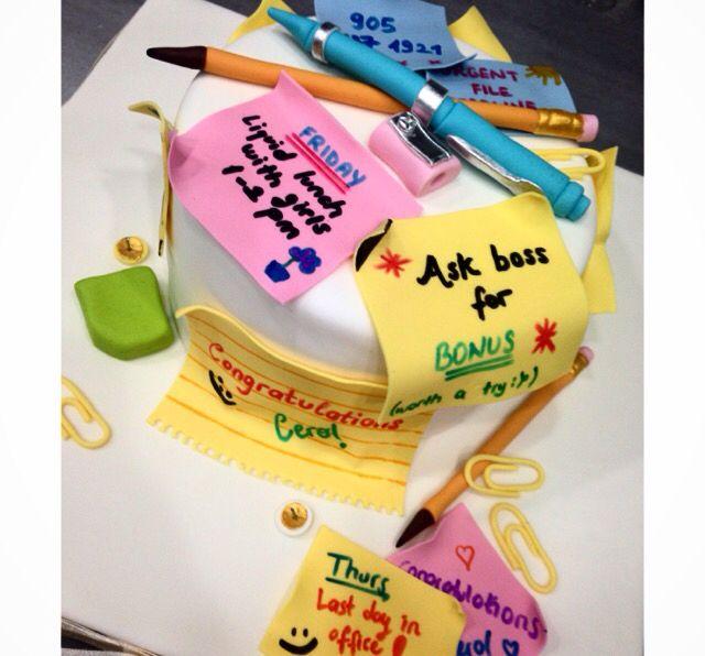 Office Job Congratulations Cake Cake Patisserie Food