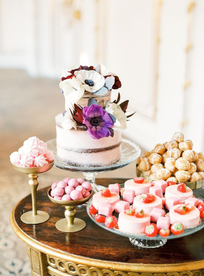 Pretty sweets: http://www.stylemepretty.com/destination-weddings/2016/04/22/a-royal-celebration-complete-with-cakes-and-a-crowned-puppy/   Photography: Ashley Ludaescher - http://ashleyludaescher.com/