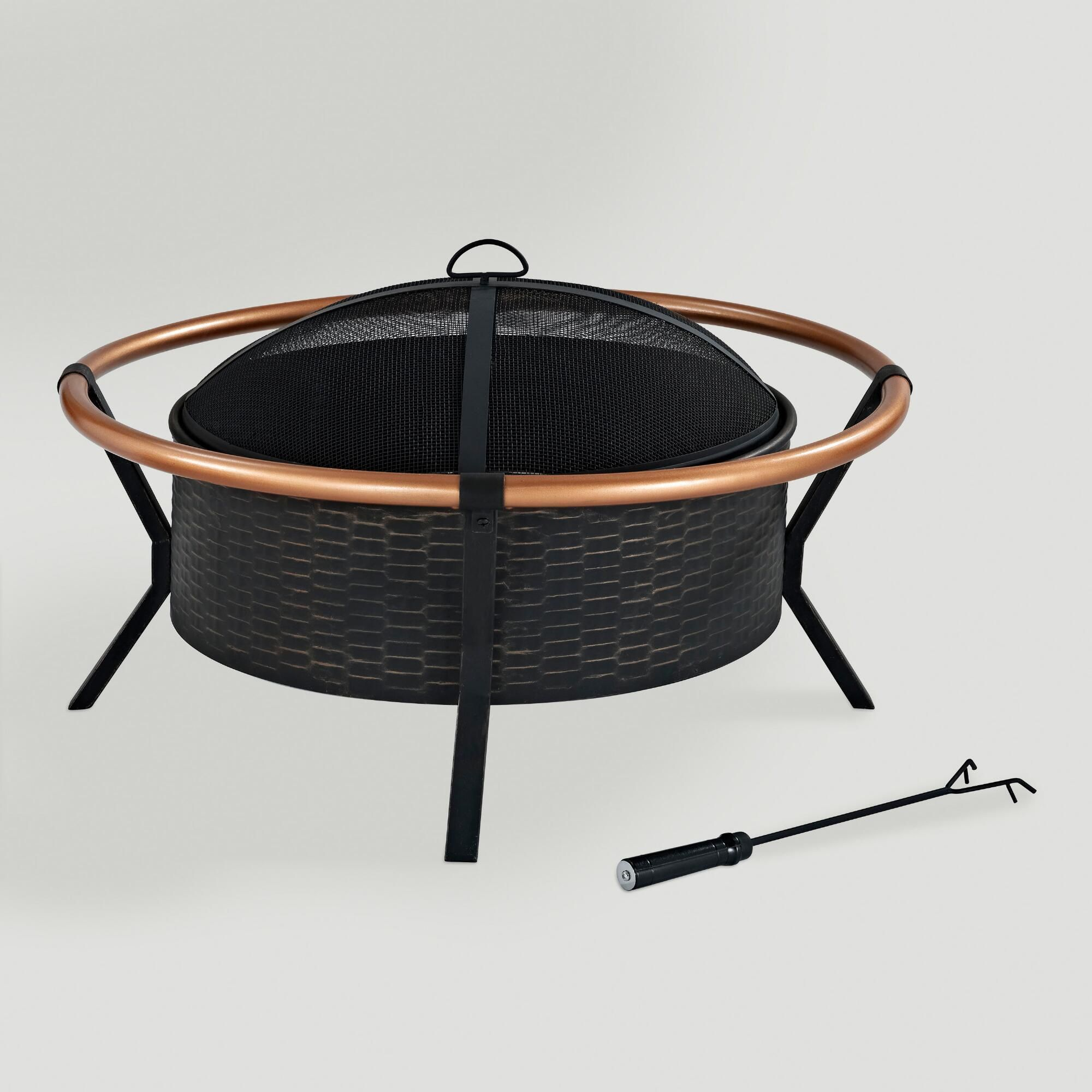 yuma fire pit roasting marshmallows steel fire pit and mesh screen