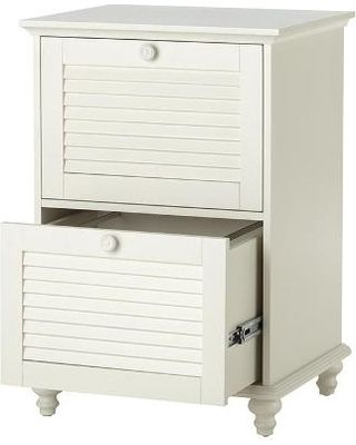 Inspirational White Two Drawer File Cabinet