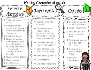 005 Writing CharacteristicsLAFS Fourth grade writing, Third