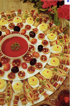 this lovely spread is brought to you by me and the 1959 betty crocker frankly fancy foods recipe book