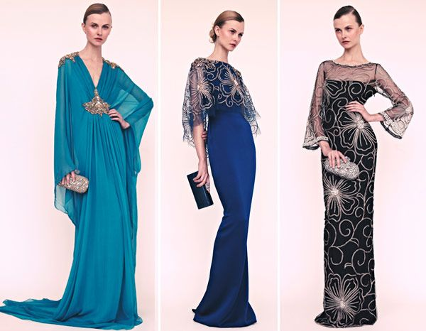 Reem Acra. The blue one.