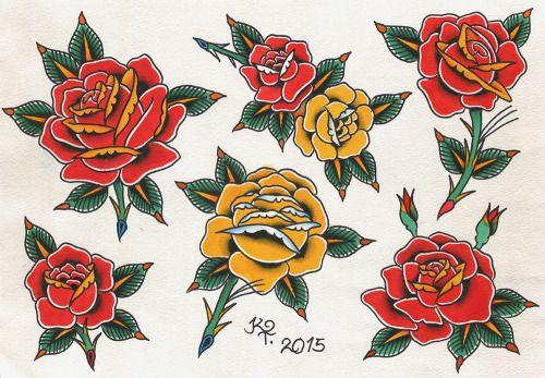 Traditional Style Roses Traditional Rose Tattoos Old School Rose Flower Tattoo Shoulder