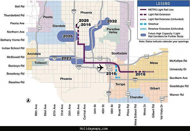 cool Phoenix Mesa Metro Map