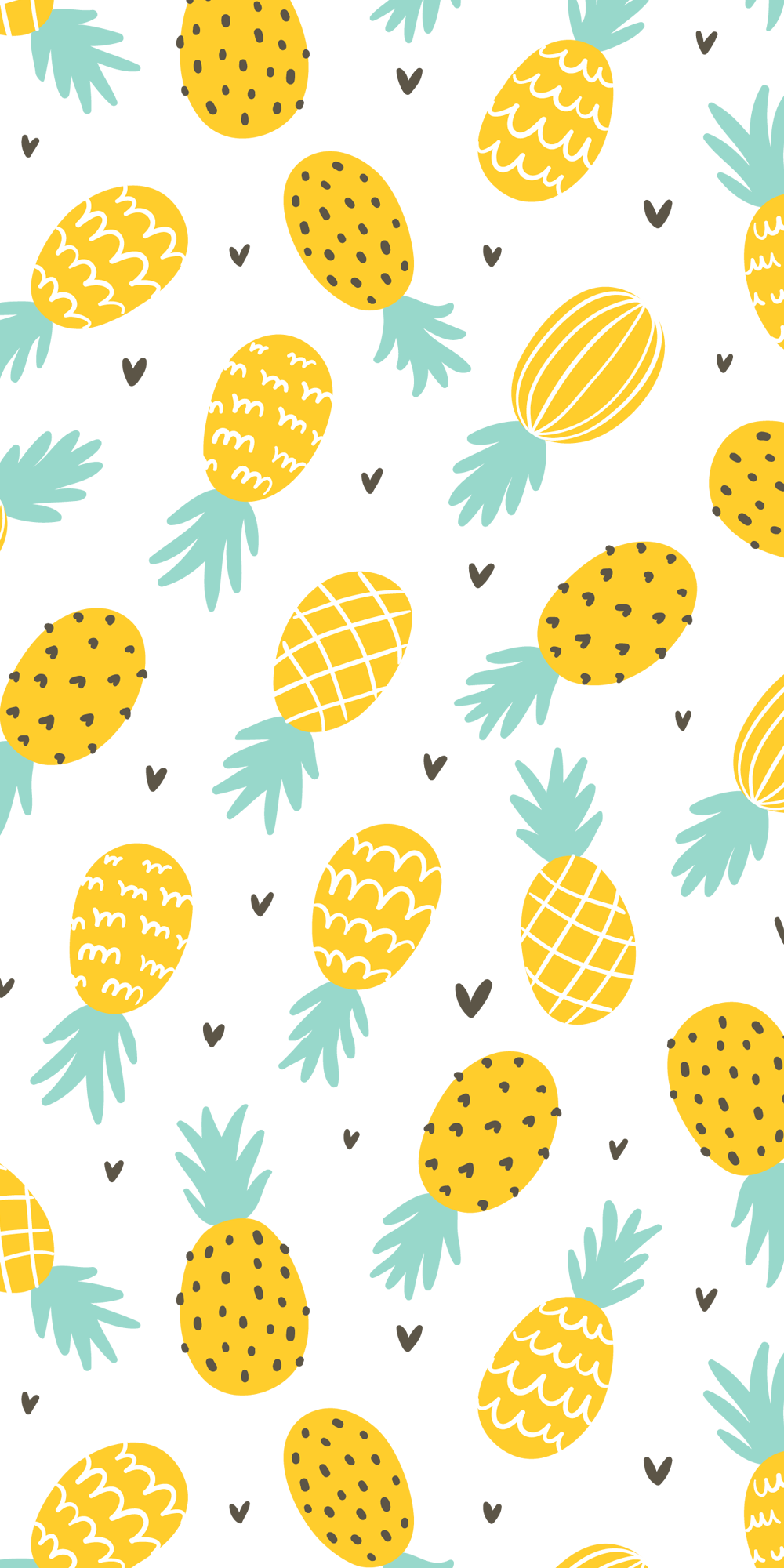 Perfect Combo Pineapples And Hearts Casetify Iphone Fruit Art Design Illustration I Pineapple Illustration Cute Pineapple Wallpaper Pineapple Vector