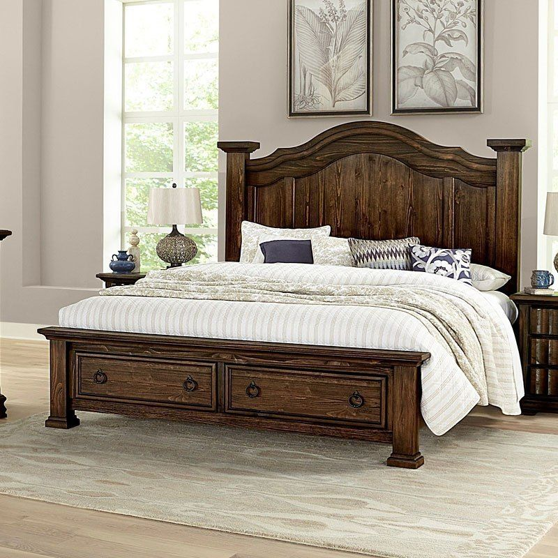 Rustic Hills Poster Storage Bed (Coffee) Bed design, Bed