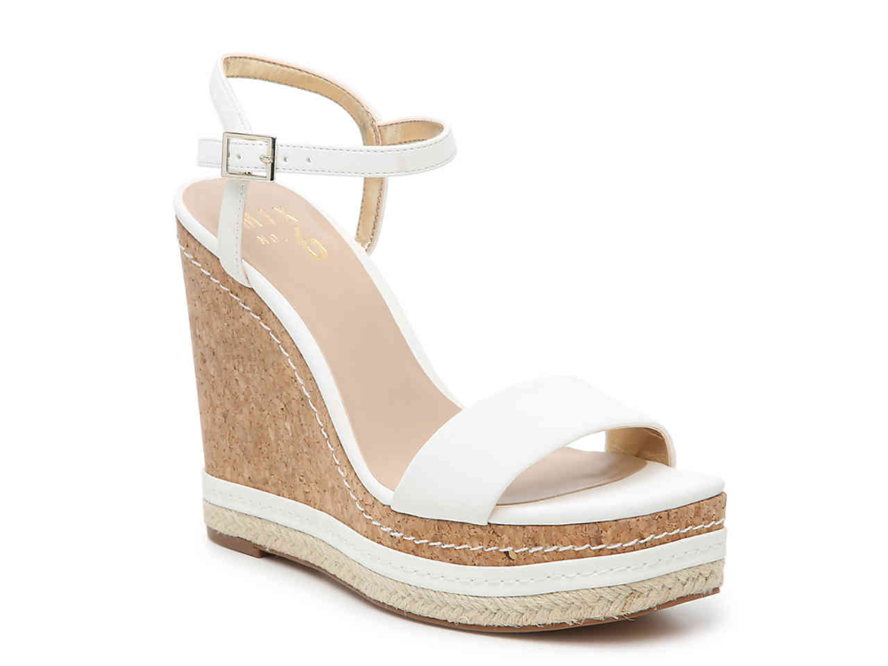 Wedge sandals, White wedge shoes