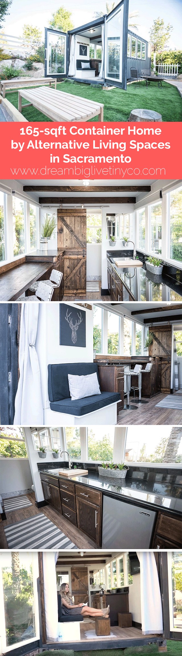 165 sqft container home by alternative living spaces in sacramento rh pinterest com