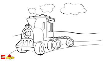 LEGO DUPLO Train Coloring Page