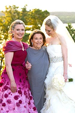 Hillary Clinton Oscar de la Renta Mother of the Bride Dress ...